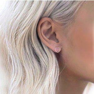 """""""Circle of Life"""" Minimalist Simple Stud Earrings"""